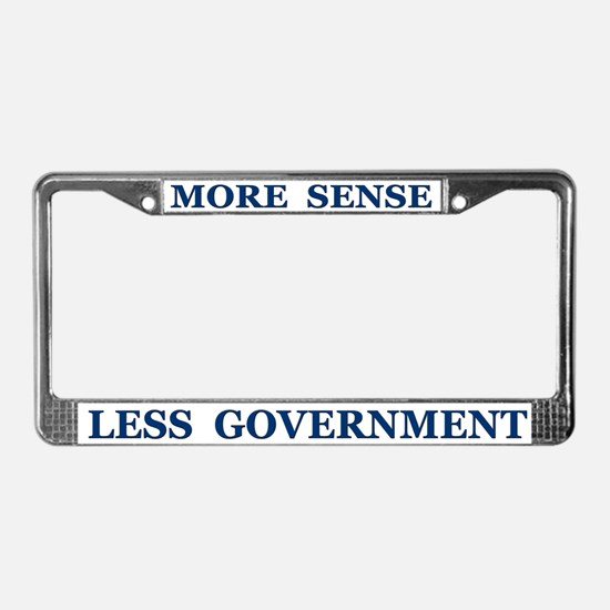 More Sense ~ License Plate Frame