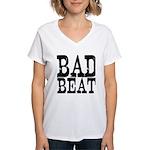 Bad Beat Women Poker Women's V-Neck T-Shirt