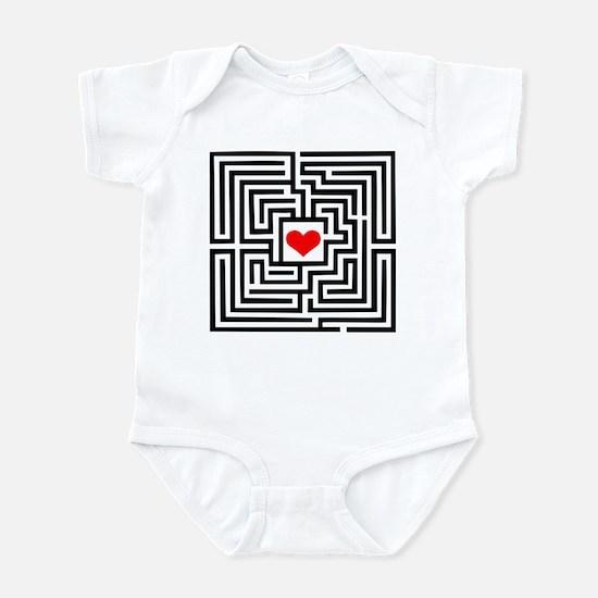 Labyrinth - Heart Infant Bodysuit