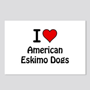 American Eskimo Dogs Postcards (Package of 8)