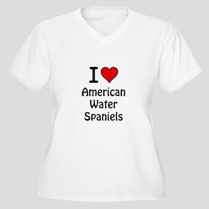 American Water Spaniels Women's Plus Size V-Neck T
