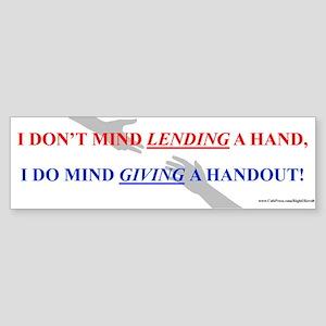 Lending vs. Giving (sticker)