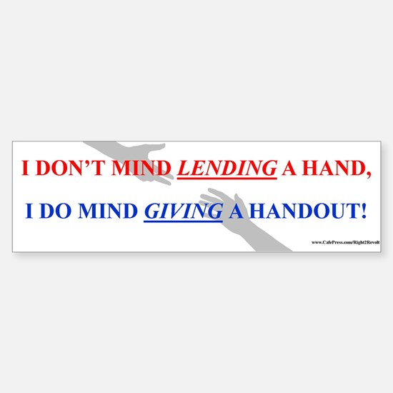Lending vs. Giving (sticker)