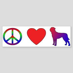 Peace Love Tosa Bumper Sticker