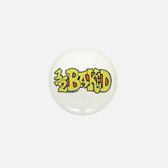 1/2 Baked Mini Button