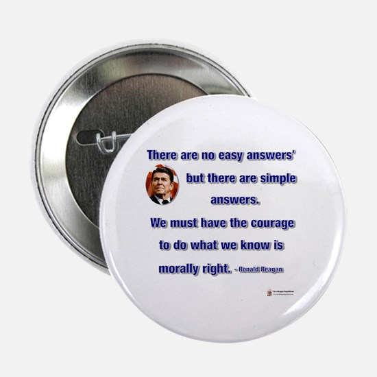"""Reagan Simple Answers 2.25"""" Button"""