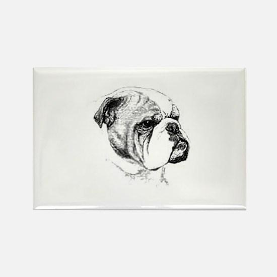 English Bulldog Rectangle Magnet