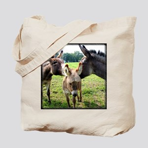 Miniature Donkey Family Tote Bag