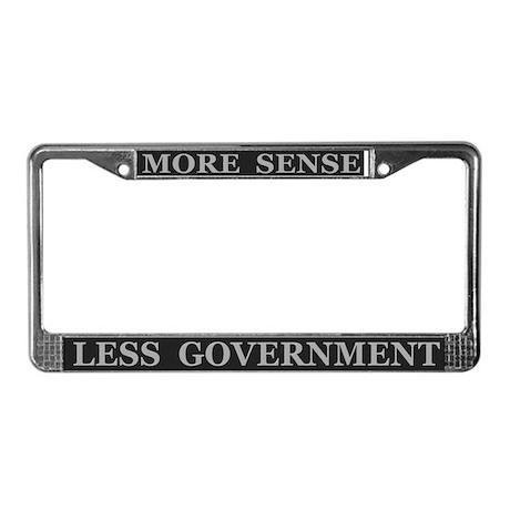 More Sense Political ~ License Plate Frame