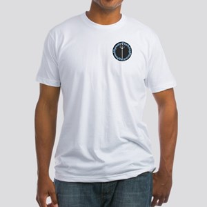 Fitted T-Shirt with front logo and back fishes NE