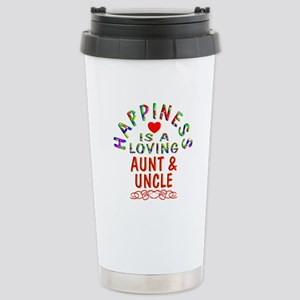 Aunt & Uncle Stainless Steel Travel Mug