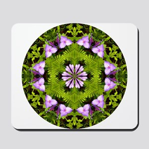 Spiderwort and Ferns Mousepad