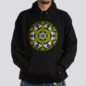 Spiderwort and Ferns Hoodie (dark)