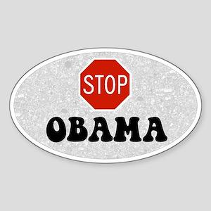 Stop Obama Oval Sticker