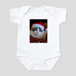 Christmas Ragdoll Cat infant Bodysuit