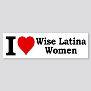 Heart Wise Latina Bumper Sticker