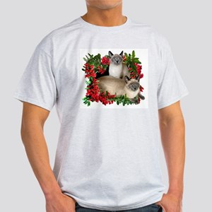 Siamese Cats in Berries Light T-Shirt