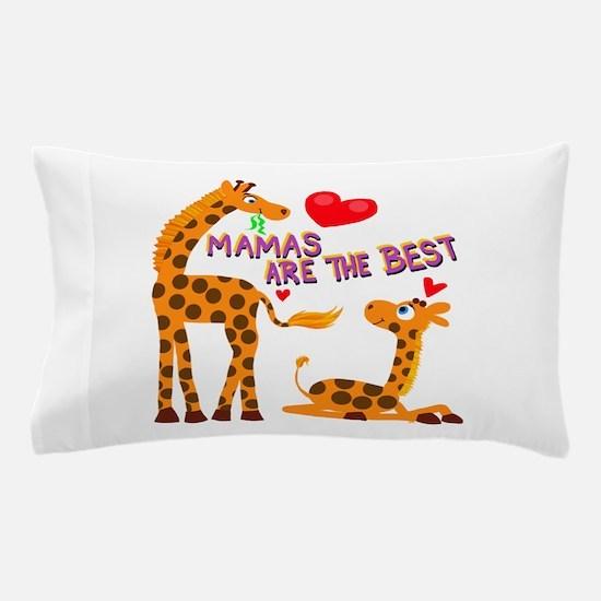 Mother's Day Giraffe Pillow Case