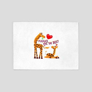 Mother's Day Giraffe 5'x7'Area Rug