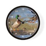 Mallard Flight Wall Clock