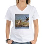 Mallard Flight Women's V-Neck T-Shirt