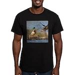 Mallard Flight Men's Fitted T-Shirt (dark)