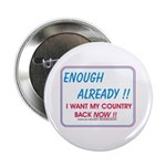"""I want my country back ! 2.25"""" Button"""