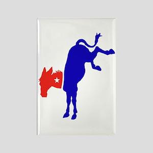 Democratic Donkey 2 Rectangle Magnet