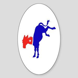 Democratic Donkey 2 Oval Sticker