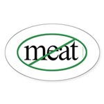 Vegetarian Oval Sticker
