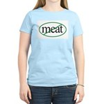 Vegetarian Women's Pink T-Shirt