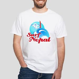 Surf Nepal White T-Shirt