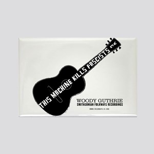 Woody Guthrie Rectangle Magnet