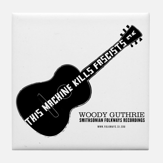 Woody Guthrie Tile Coaster