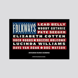 Folkways Artists Rectangle Magnet