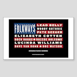 Folkways Artists Rectangle Sticker