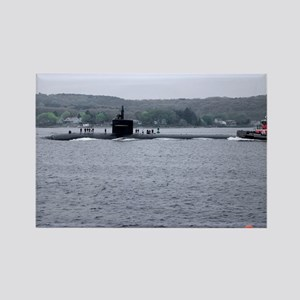 Sub Going to Sea Rectangle Magnet