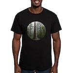 Redwood Forest Men's Fitted T-Shirt (dark)