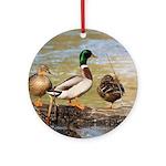 Mallard Ducks Ornament (Round)