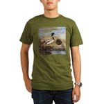 Mallard Ducks Organic Men's T-Shirt (dark)