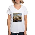 Mallard Ducks Women's V-Neck T-Shirt