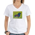 pop art Ginger Women's V-Neck T-Shirt