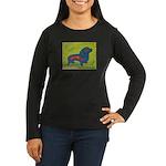 pop art Ginger Women's Long Sleeve Dark T-Shirt