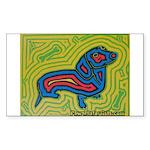 pop art Ginger Rectangle Sticker