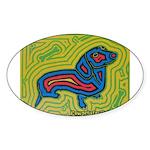 pop art Ginger Oval Sticker (50 pk)