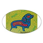 pop art Ginger Oval Sticker (10 pk)