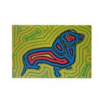 pop art Ginger Rectangle Magnet (100 pack)
