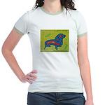 pop art Ginger Jr. Ringer T-Shirt