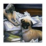 Law Dogs Tile Coaster