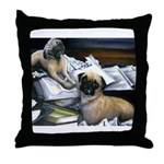 Law Dogs Throw Pillow